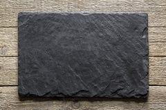 黑板岩纹理特写镜头 免版税图库摄影