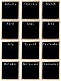 黑板空白日历  免版税库存图片