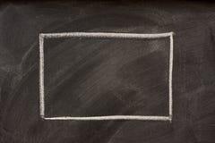 黑板空白长方形 免版税库存图片