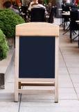 黑板菜单 免版税图库摄影