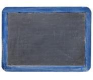 黑板蓝色框架板岩 图库摄影