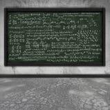 黑板配方算术 库存例证