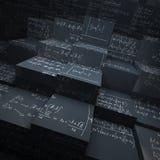 黑板阻拦配方算术 图库摄影
