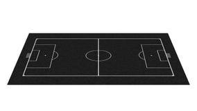 黑板领域橄榄球透视图 免版税库存照片