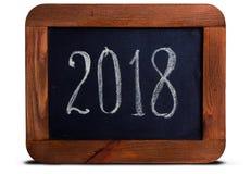 黑板2018年 库存照片