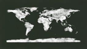 黑板-白垩世界地图 免版税库存图片