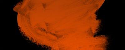 黑橙色刷子横幅背景难看的东西 免版税库存照片