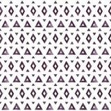 黑水彩的阿兹台克元素在白色背景的 免版税库存照片