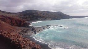 黑沙子,加那利群岛,兰萨罗特岛 库存照片