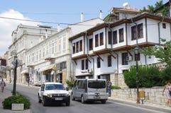 黑海沿海城市在保加利亚 免版税图库摄影