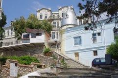 黑海沿海城市在保加利亚 免版税库存图片