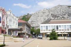 黑海沿海城市在保加利亚 免版税库存照片