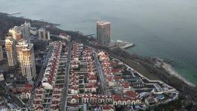 黑海海岸的傲德萨,乌克兰,2019年1月住宅区 股票视频