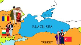 黑海海岸的国家 皇族释放例证