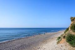 黑海海岸的都市风景,人们基于 免版税库存图片
