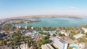 黑海海岸里维埃拉在罗马尼亚,鸟瞰图 股票视频
