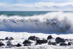 黑海的强的大波浪 免版税库存照片