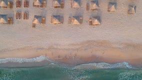 黑海的鸟瞰图 股票录像