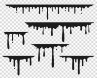 黑滴下的污点 液体油漆飞溅,巧克力流程边界,焦糖泼溅物泄漏,融解油漆下落 导航黑 皇族释放例证
