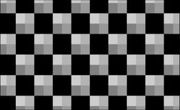 黑灰色正方形抽象梯度样式 库存例证