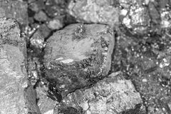 黑煤炭背景  库存照片