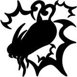 黑狂放的史诗龙原始的商标 库存例证