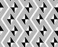 黑白之字形墙纸 免版税库存照片