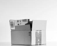 黑白亚马逊最初箱子 免版税图库摄影