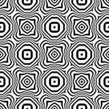 黑白传染媒介无缝的抽象的样式 抽象背景墙纸 免版税库存照片