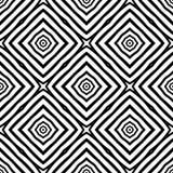 黑白传染媒介无缝的抽象的样式 抽象背景墙纸 库存照片