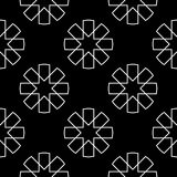 黑白几何印刷品 无缝的模式 图库摄影