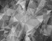 黑白几何抽象背景例证 免版税库存图片