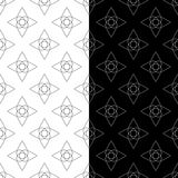 黑白几何装饰品 仿造无缝的集 免版税图库摄影