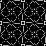 黑白几何装饰品 无缝的模式 图库摄影