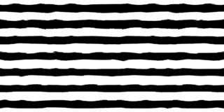黑白单色水平的刷子冲程镶边无缝的样式 背景的,纺织品典雅的样式 库存例证