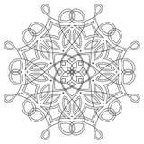黑白回合对称蔓藤花纹设计 花梢装饰坛场 皇族释放例证
