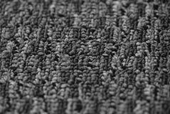 黑白地毯纹理背景 库存照片