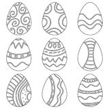 黑白复活节彩蛋 免版税库存图片
