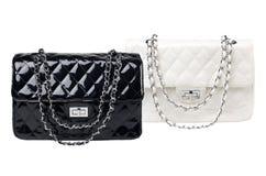 黑白女性袋子 免版税库存照片