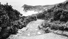 黑白好望角的路 库存图片