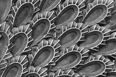 黑白孔雀羽毛 免版税图库摄影
