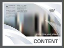 黑白小册子布局设计模板 使 免版税库存图片