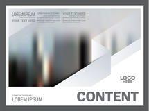 黑白小册子布局设计模板 使 图库摄影