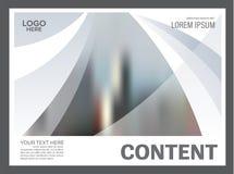 黑白小册子布局设计模板 使 库存照片
