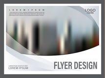 黑白小册子布局设计模板 使 免版税库存照片