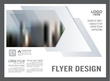 黑白小册子布局设计模板 使 向量例证