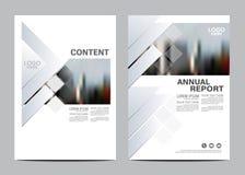 黑白小册子布局设计模板 年终报告飞行物传单盖子介绍现代背景 库存例证