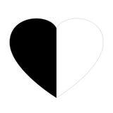 黑白心脏 库存照片