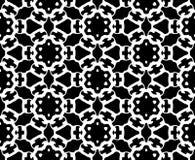 黑白抽象传染媒介背景和无缝的重复样式设计 皇族释放例证