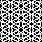 黑白抽象传染媒介背景和无缝的重复样式设计 向量例证